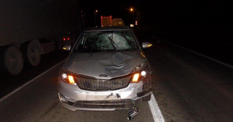 ВУдмуртии шофёр «Киа Рио» сбил 2-х пешеходов