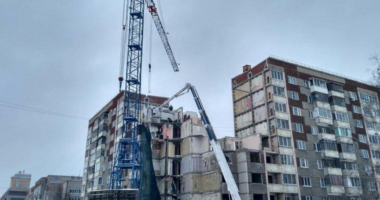 Рухнувший подъезд дома наУдмуртской демонтируют до15февраля