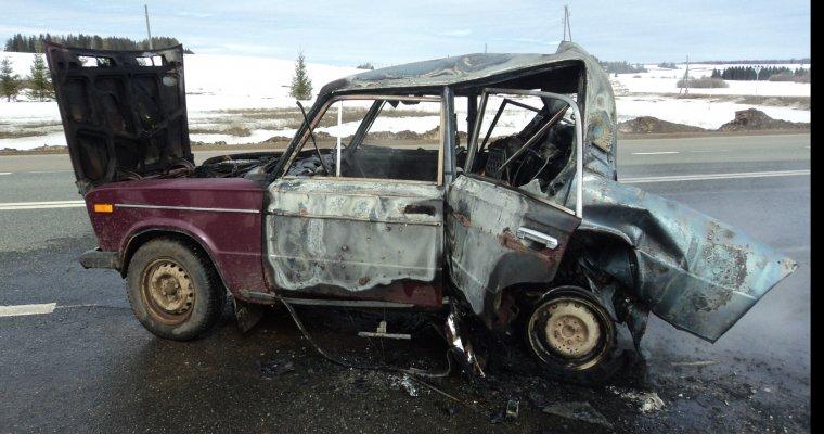 Утром  два человека погибли вДТП вУдмуртии