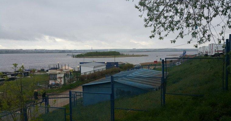 НаИжевском пруду появился дрейфующий остров