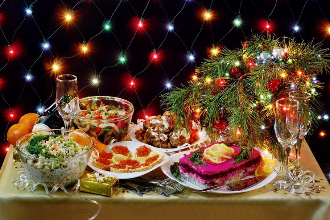 Новогодние открытки новогоднего стола