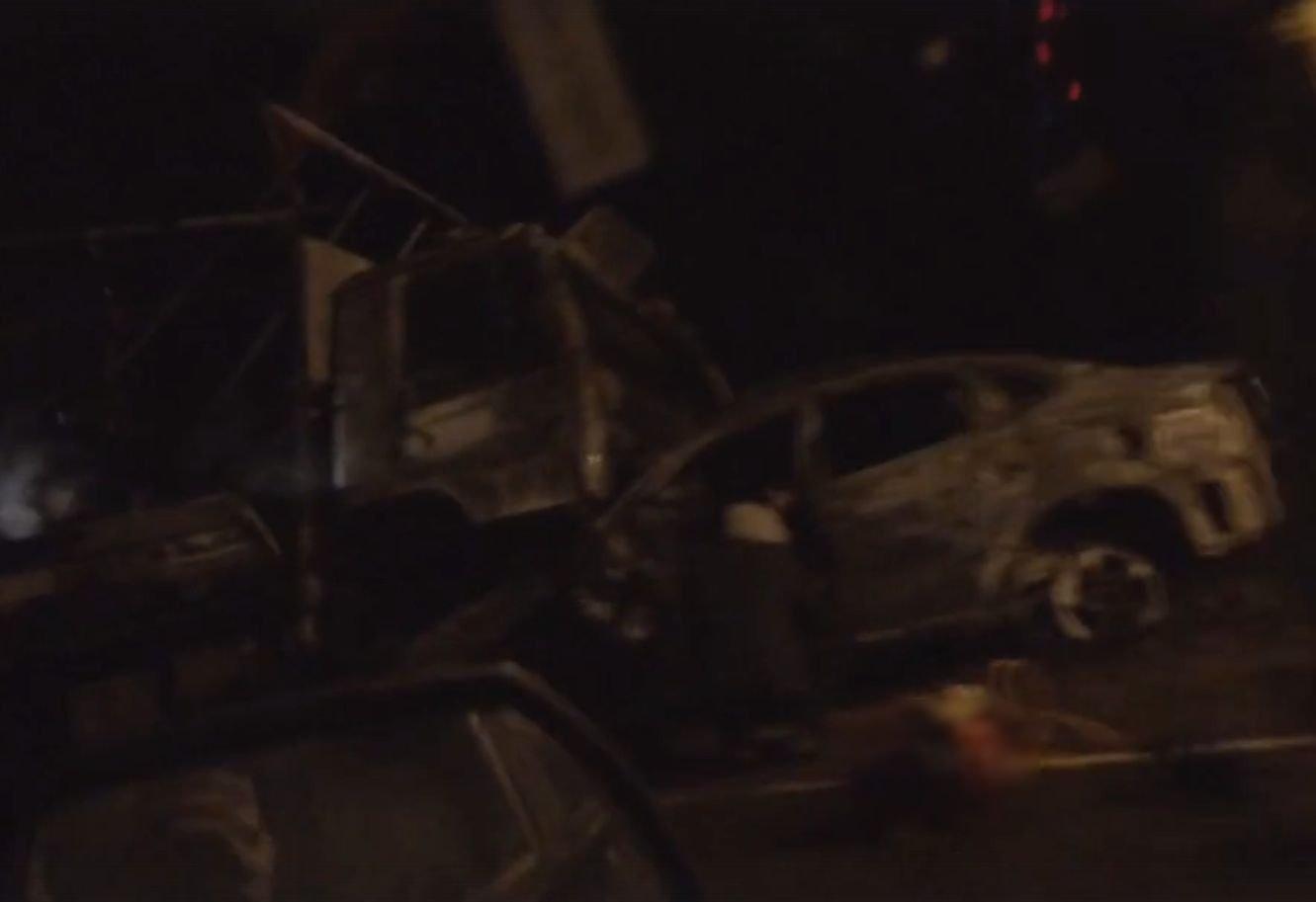 Наобъездной Воткинска два человека погибли вДТП свозгоранием