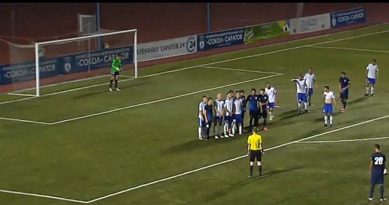 Саратовский «Сокол» одержал победу серию пенальти вкубковом матче