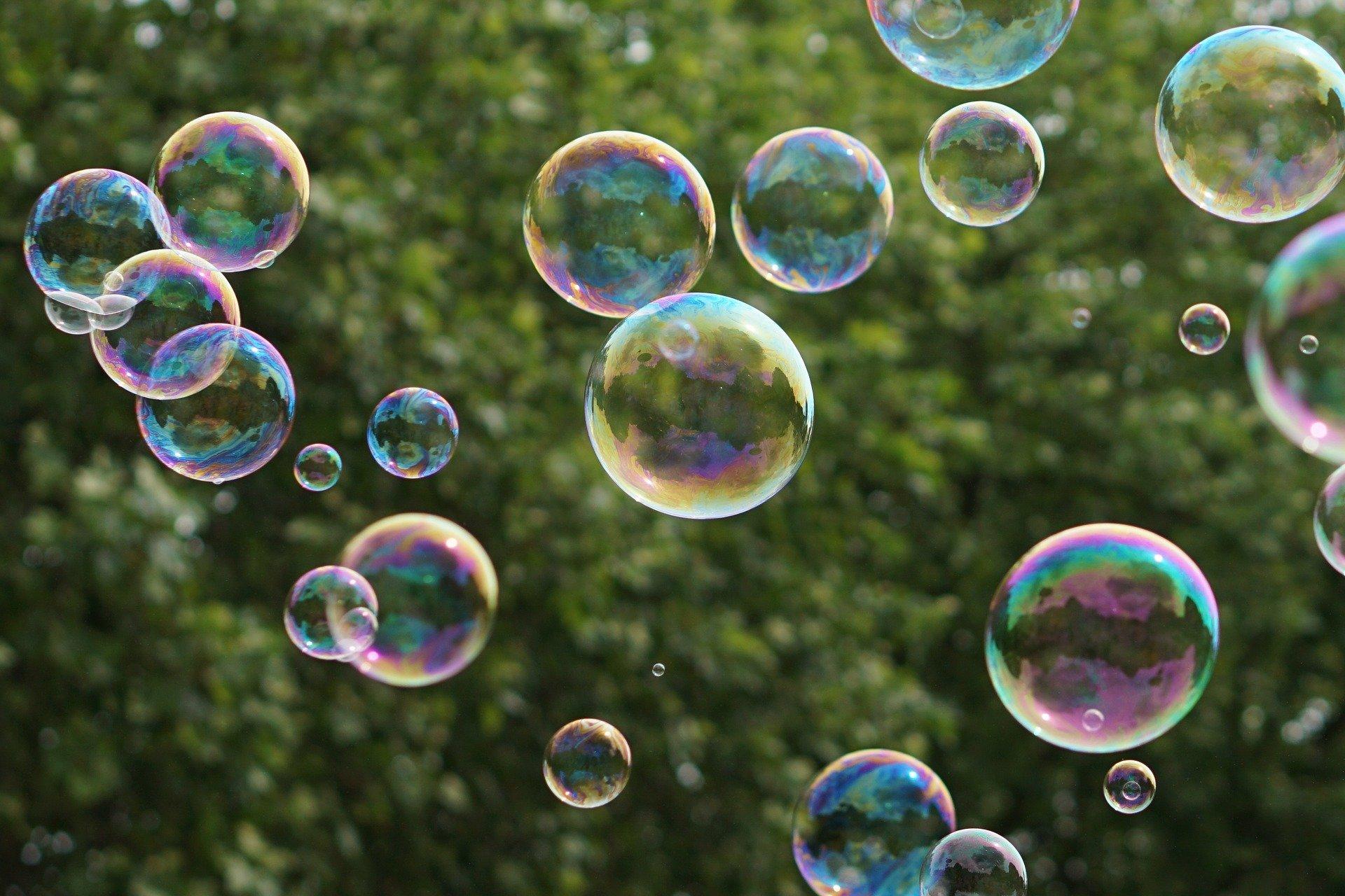 Марта, надпись к картинке с мыльными пузырями