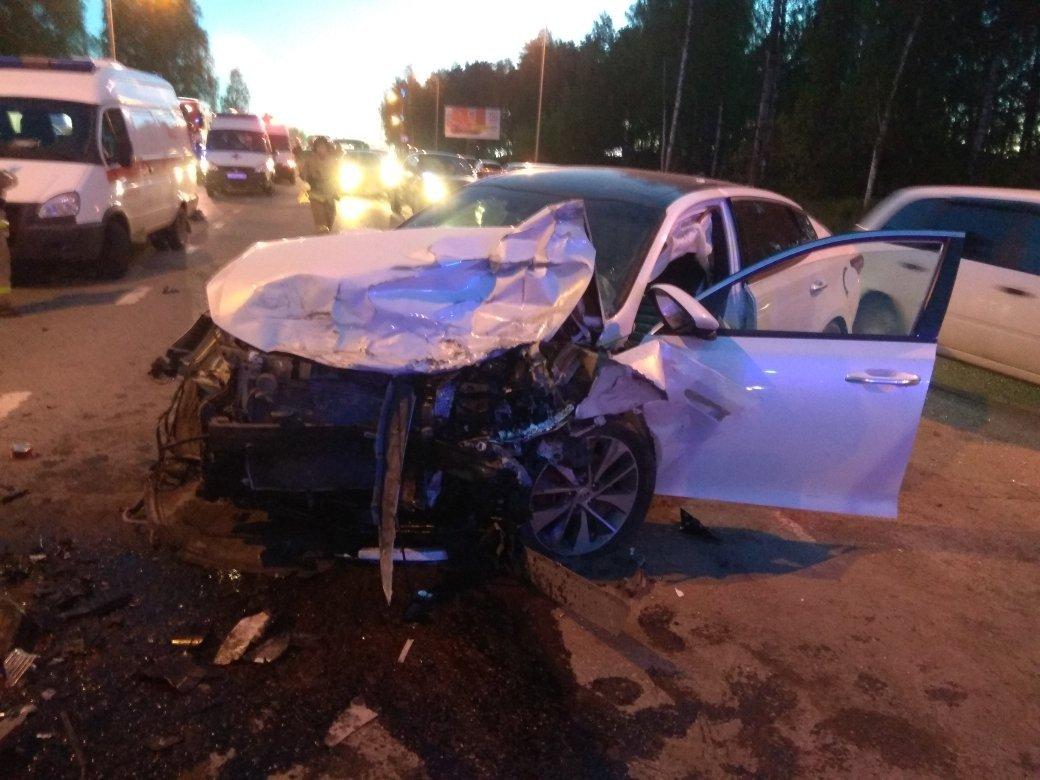 МВД по Удмуртии: устроивший массовое ДТП под Ижевском водитель был пьян