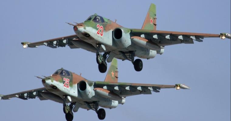 Су-25 поднялись ввоздух для уничтожения условного противника