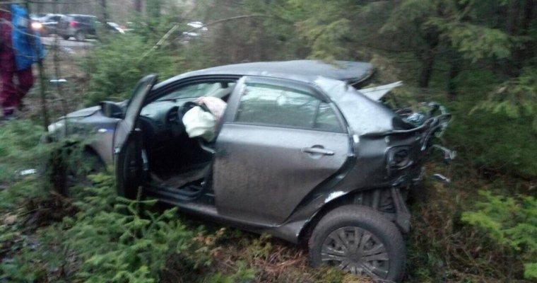 Шофёр «Тойоты» умер вДТП вСарапуле, врезавшись вдерево