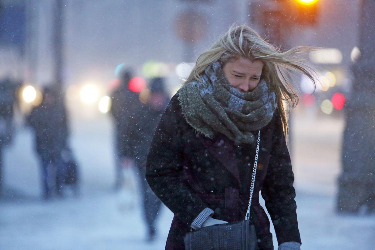 Картинки с сильным ветром зимой