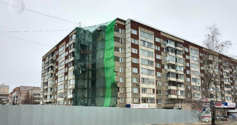 Жильцы 7-ми квартир обрушившегося дома вИжевске получат по150 тыс. руб.