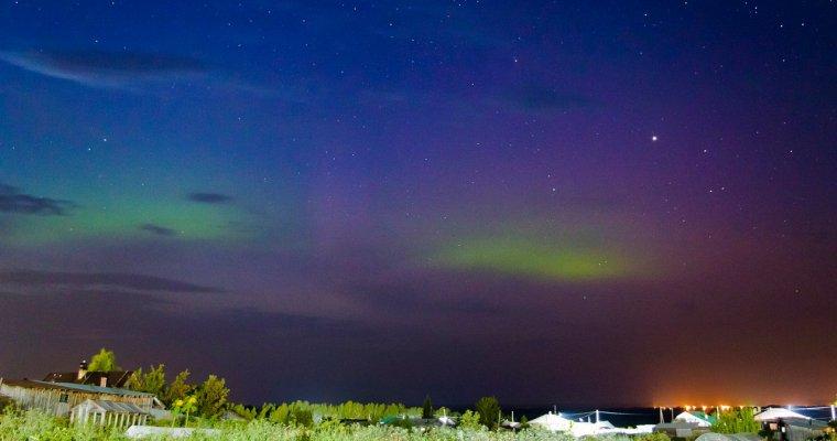Фотограф изИрбита снял навидео полярное сияние