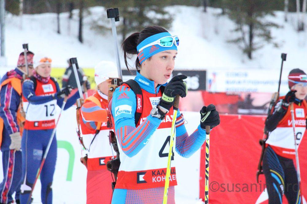 Ульяна Кайшева стала 2-ой витоговом рейтинге Союза биатлонистов РФ