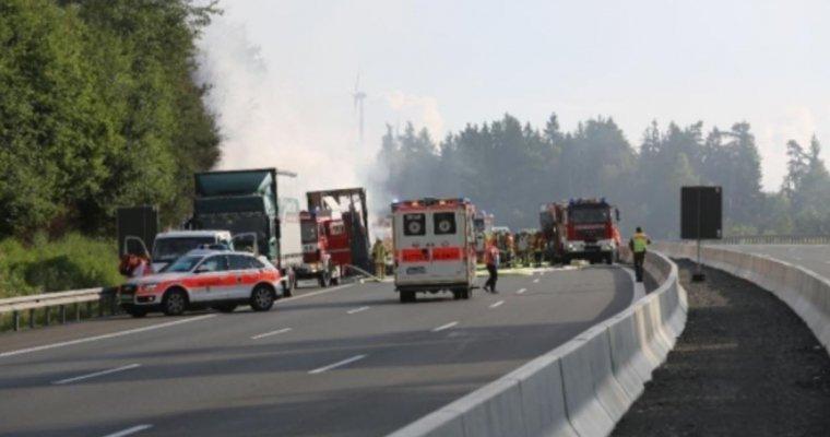 Десятки туристов пострадали в ДТП с автобусом в Баварии