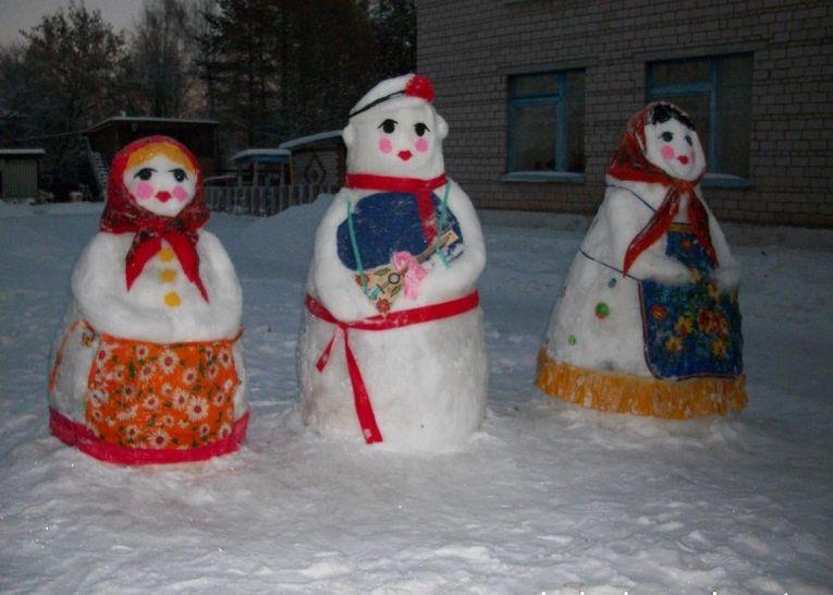 Новогодние фигуры для улицы своими руками из снега