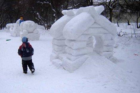 Городок из снега фото